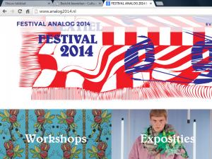 screenshot website Analog2014