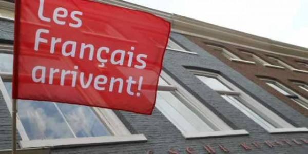 vlag Les francais arrivent
